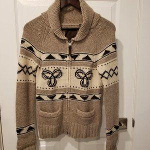 TNA - Logo Lambswool Zip Up Sweater